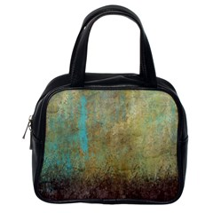Aqua Textured Abstract Classic Handbags (one Side) by digitaldivadesigns