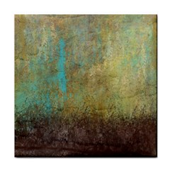 Aqua Textured Abstract Face Towel by digitaldivadesigns