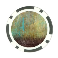 Aqua Textured Abstract Poker Chip Card Guard (10 Pack) by digitaldivadesigns
