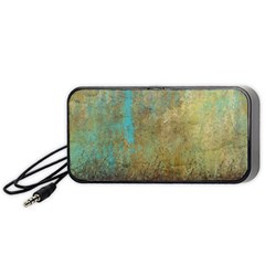 Aqua Textured Abstract Portable Speaker (black) by digitaldivadesigns