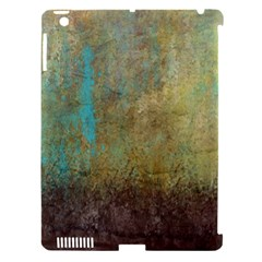 Aqua Textured Abstract Apple Ipad 3/4 Hardshell Case (compatible With Smart Cover) by digitaldivadesigns