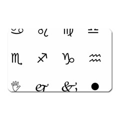 Set Of Black Web Dings On White Background Abstract Symbols Magnet (rectangular) by Amaryn4rt