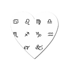 Set Of Black Web Dings On White Background Abstract Symbols Heart Magnet by Amaryn4rt