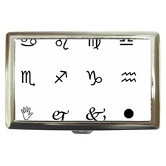Set Of Black Web Dings On White Background Abstract Symbols Cigarette Money Cases by Amaryn4rt