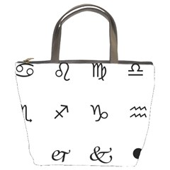 Set Of Black Web Dings On White Background Abstract Symbols Bucket Bags by Amaryn4rt