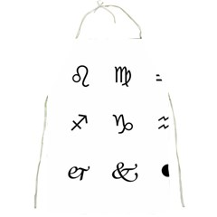 Set Of Black Web Dings On White Background Abstract Symbols Full Print Aprons by Amaryn4rt
