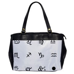 Set Of Black Web Dings On White Background Abstract Symbols Office Handbags by Amaryn4rt