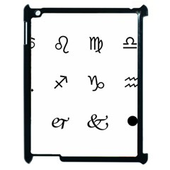 Set Of Black Web Dings On White Background Abstract Symbols Apple Ipad 2 Case (black) by Amaryn4rt