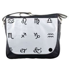 Set Of Black Web Dings On White Background Abstract Symbols Messenger Bags