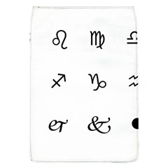 Set Of Black Web Dings On White Background Abstract Symbols Flap Covers (l)  by Amaryn4rt