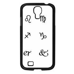 Set Of Black Web Dings On White Background Abstract Symbols Samsung Galaxy S4 I9500/ I9505 Case (black) by Amaryn4rt