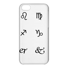 Set Of Black Web Dings On White Background Abstract Symbols Apple Iphone 5c Hardshell Case by Amaryn4rt