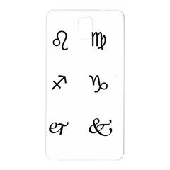 Set Of Black Web Dings On White Background Abstract Symbols Samsung Galaxy Note 3 N9005 Hardshell Back Case by Amaryn4rt