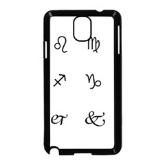 Set Of Black Web Dings On White Background Abstract Symbols Samsung Galaxy Note 3 Neo Hardshell Case (black) by Amaryn4rt