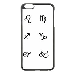 Set Of Black Web Dings On White Background Abstract Symbols Apple Iphone 6 Plus/6s Plus Black Enamel Case by Amaryn4rt