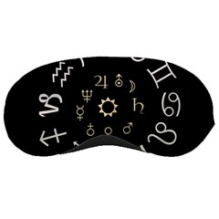 Astrology Chart With Signs And Symbols From The Zodiac Gold Colors Sleeping Masks by Amaryn4rt