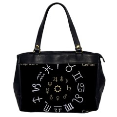 Astrology Chart With Signs And Symbols From The Zodiac Gold Colors Office Handbags by Amaryn4rt