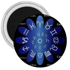 Astrology Birth Signs Chart 3  Magnets by Amaryn4rt