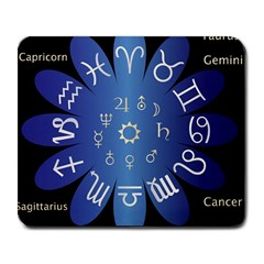 Astrology Birth Signs Chart Large Mousepads by Amaryn4rt