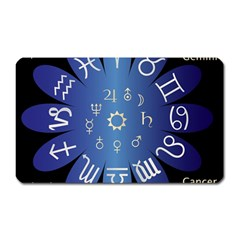 Astrology Birth Signs Chart Magnet (rectangular) by Amaryn4rt