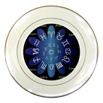 Astrology Birth Signs Chart Porcelain Plates Front