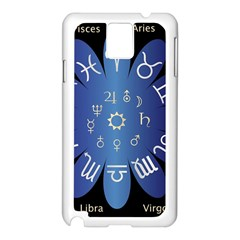 Astrology Birth Signs Chart Samsung Galaxy Note 3 N9005 Case (white) by Amaryn4rt