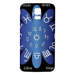 Astrology Birth Signs Chart Samsung Galaxy S5 Back Case (white) by Amaryn4rt