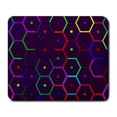 Color Bee Hive Pattern Large Mousepads by Amaryn4rt