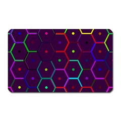 Color Bee Hive Pattern Magnet (rectangular) by Amaryn4rt