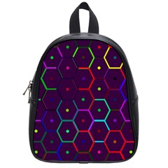 Color Bee Hive Pattern School Bags (small)  by Amaryn4rt