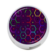 Color Bee Hive Pattern 4 Port Usb Hub (one Side) by Amaryn4rt