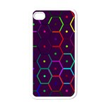 Color Bee Hive Pattern Apple iPhone 4 Case (White) Front