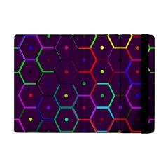 Color Bee Hive Pattern Apple Ipad Mini Flip Case by Amaryn4rt