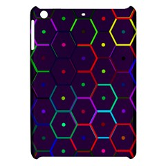 Color Bee Hive Pattern Apple Ipad Mini Hardshell Case by Amaryn4rt