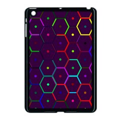 Color Bee Hive Pattern Apple Ipad Mini Case (black) by Amaryn4rt