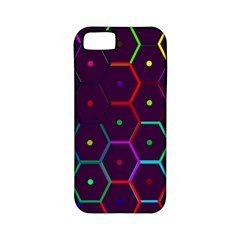 Color Bee Hive Pattern Apple Iphone 5 Classic Hardshell Case (pc+silicone) by Amaryn4rt