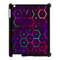 Color Bee Hive Pattern Apple Ipad 3/4 Case (black) by Amaryn4rt
