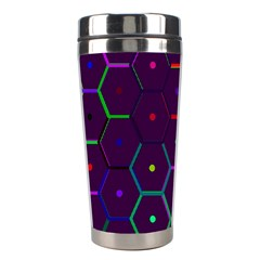 Color Bee Hive Pattern Stainless Steel Travel Tumblers by Amaryn4rt