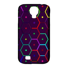 Color Bee Hive Pattern Samsung Galaxy S4 Classic Hardshell Case (pc+silicone) by Amaryn4rt