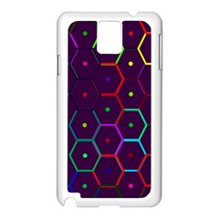 Color Bee Hive Pattern Samsung Galaxy Note 3 N9005 Case (white) by Amaryn4rt