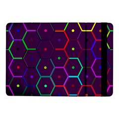 Color Bee Hive Pattern Samsung Galaxy Tab Pro 10 1  Flip Case by Amaryn4rt