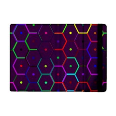 Color Bee Hive Pattern Ipad Mini 2 Flip Cases by Amaryn4rt