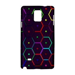 Color Bee Hive Pattern Samsung Galaxy Note 4 Hardshell Case by Amaryn4rt