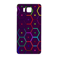 Color Bee Hive Pattern Samsung Galaxy Alpha Hardshell Back Case by Amaryn4rt