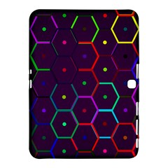 Color Bee Hive Pattern Samsung Galaxy Tab 4 (10 1 ) Hardshell Case  by Amaryn4rt