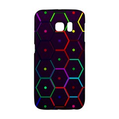 Color Bee Hive Pattern Galaxy S6 Edge by Amaryn4rt