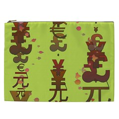 Set Of Monetary Symbols Cosmetic Bag (xxl)