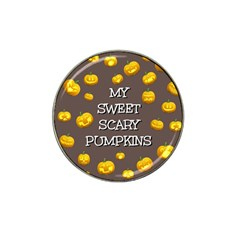 Scary Sweet Funny Cute Pumpkins Hallowen Ecard Hat Clip Ball Marker
