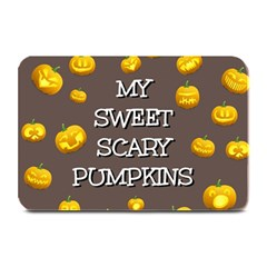Scary Sweet Funny Cute Pumpkins Hallowen Ecard Plate Mats by Amaryn4rt
