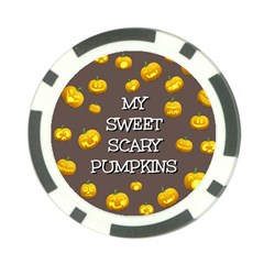 Scary Sweet Funny Cute Pumpkins Hallowen Ecard Poker Chip Card Guard (10 Pack) by Amaryn4rt